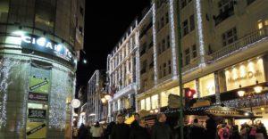 Christmas fair Budapest downtown