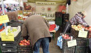 Bio organic food market Budapest Hungary
